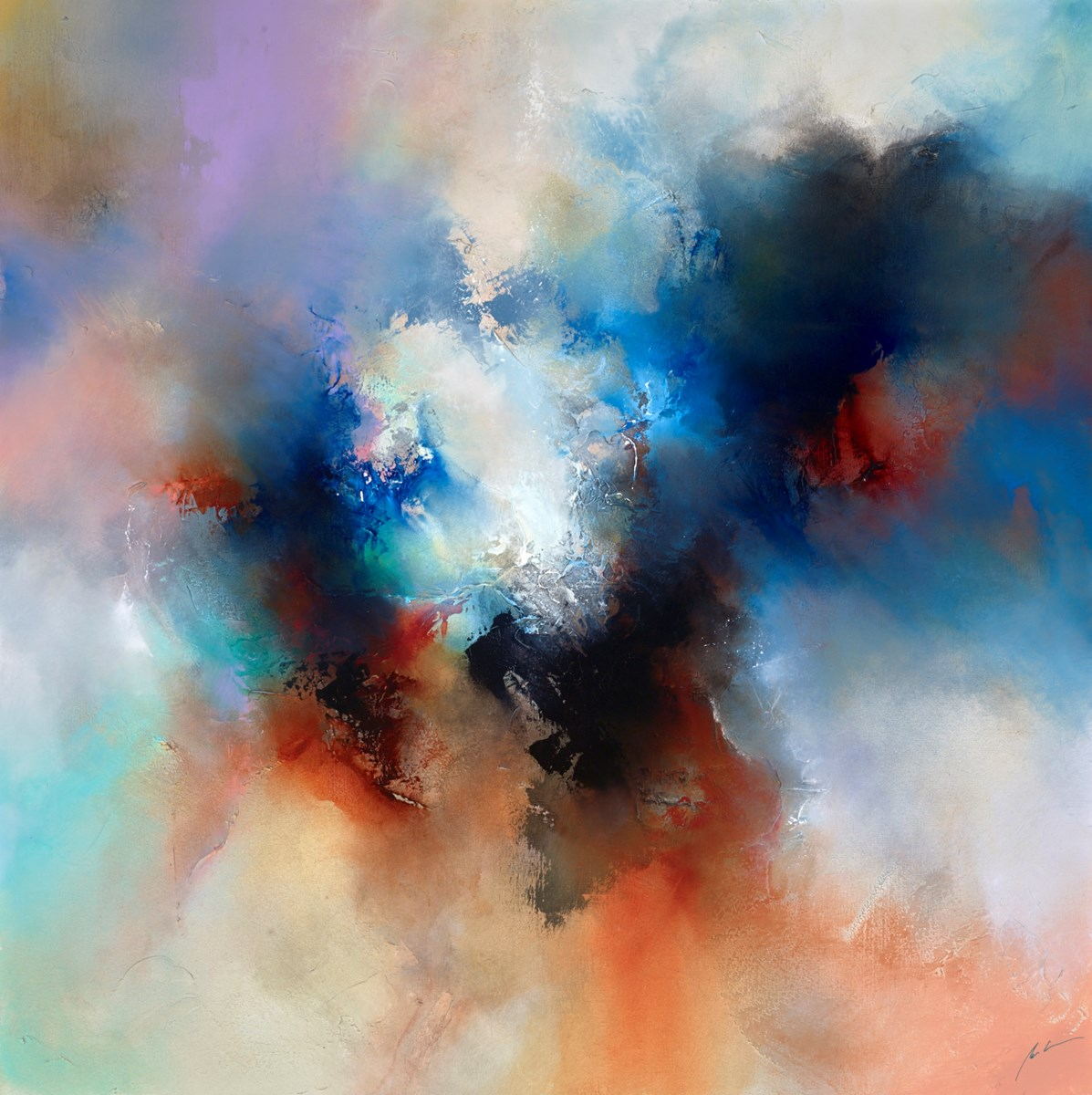 Calmed Spirit by simon kenny -  sized 48x48 inches. Available from Whitewall Galleries